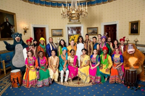 Performing in the White House with the cast of Disney's Jungle Book: Alive With Magic