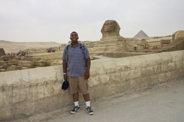 While studying Arabic and Nubian music in Cairo, Egypt