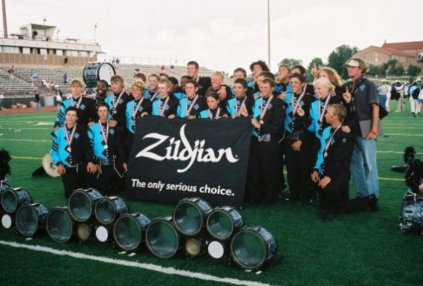 Sorking with Teal Sound drum & bugle corps in 2004. The DCI Div III percussion champions
