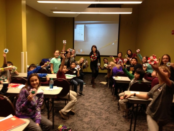 Teaching an origami workshop to 30 students!