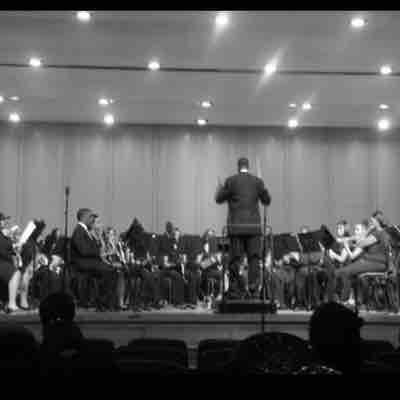 Conducting my original piece for the Fayetteville Symphonic Band