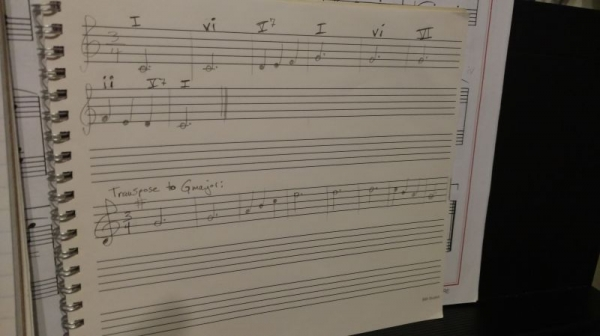 Impressive! My first-year student transcribed this melody by ear, played it with the chords I added, and transposed it to a new key!