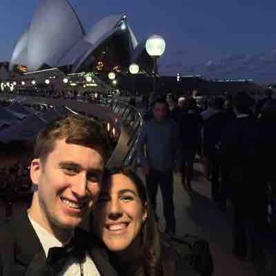 My wife and I before our performance in the Sydney Opera House with the Yosemite Wind Orchestra!