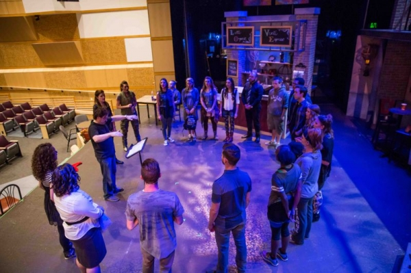Conducting the cast of GODSPELL (Gateway Church - Southlake, Texas)