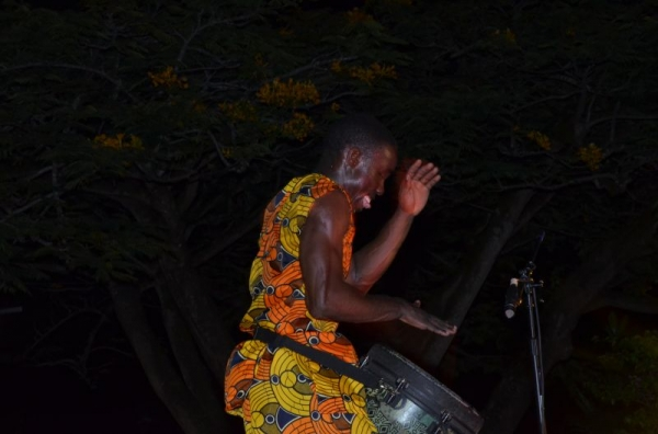 Master Drummer Orlando Performing at Guyana 2 drumming and dance festival
