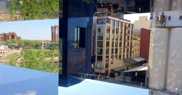 Minneapolis--home for 4 years--from the Guthrie Theater.