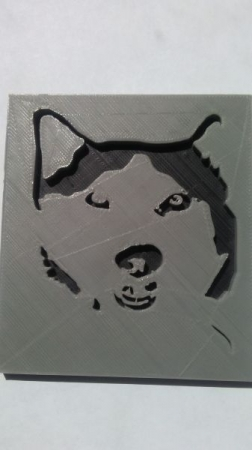 Modeled after her doggie Zeta! Great work by my middle school student, Ashley!