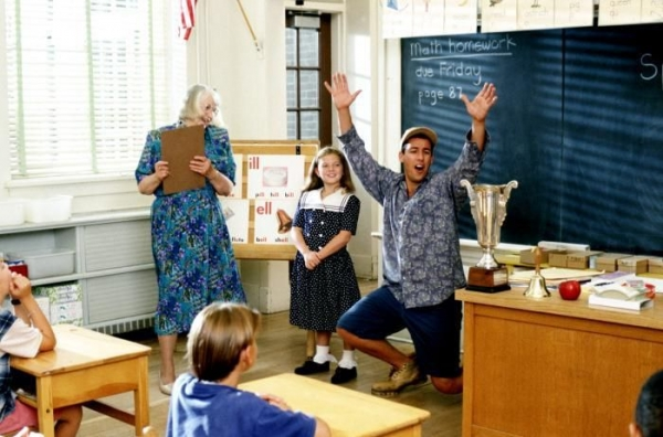 Adam Sandler and I in Billy Madison