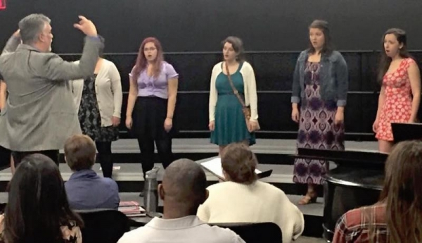 High School a cappella clinic