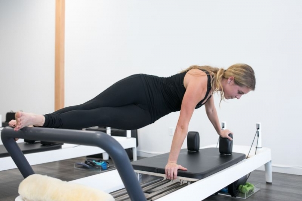 Snake on the Pilates reformer
