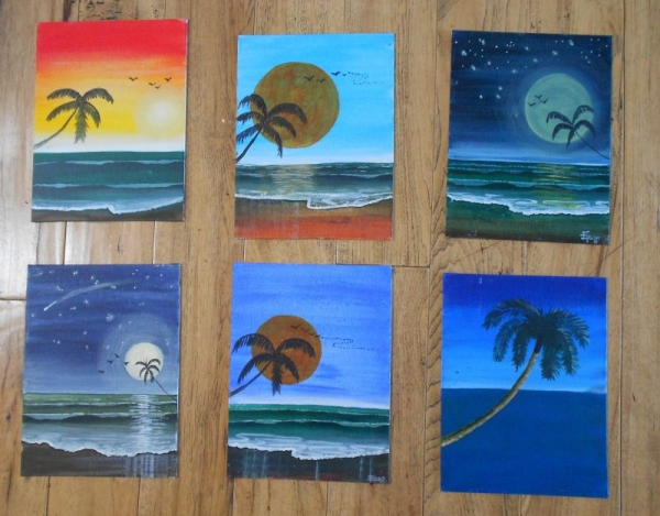 My student's work. And they had never painted before!