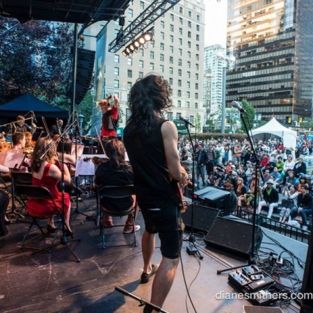 With The Living and Plastic Acid Orchestra at The Vancouver Jazz Festival 2015