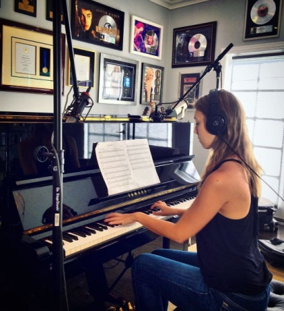 """Recording my single """"Bishops and Kings"""" at the home studio of seven-time Grammy nominee Graham Edwards"""