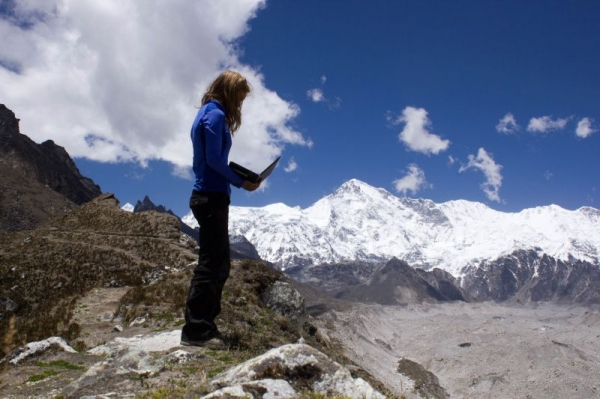 Working in the Himalaya - this is my office!