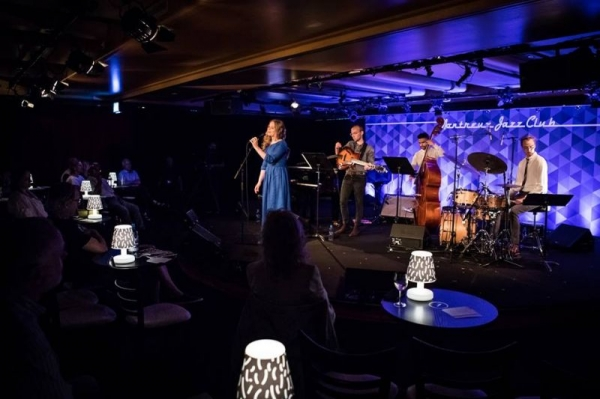 Performing at the 2017 Montreux Jazz Festival with the Arta Jekabsone Quintet