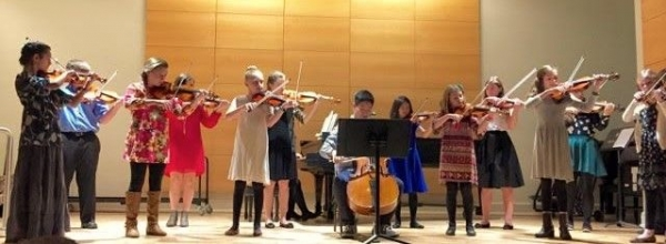 Some students performing at our 2017 recital.
