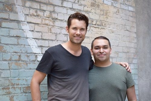Drew Seeley (Vocals for Troy Bolton in Disney's HIGH SCHOOL MUSICAL and co-writer for 'Getcha Head in the Game') & I after our photo-shoot.