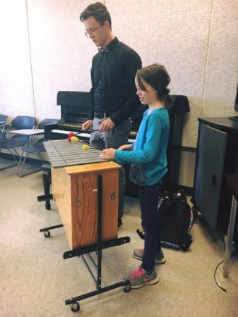 Teaching in some music education classes.