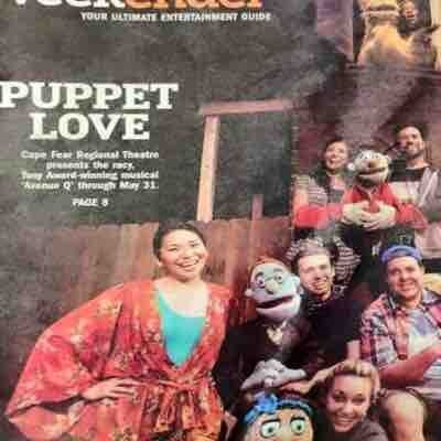 Avenue Q on the front page of the Arts section in Fayetteville, NC