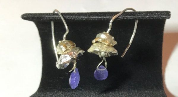 Tanzanite and Sterling Silver