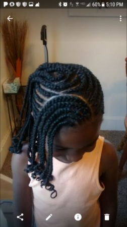 My lovely daughter knows about getting her hair braided first hand :) <3
