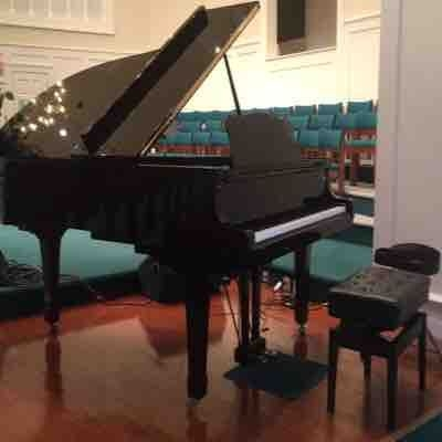 Lovely Yamaha Grand at our church. Used for recitals too!