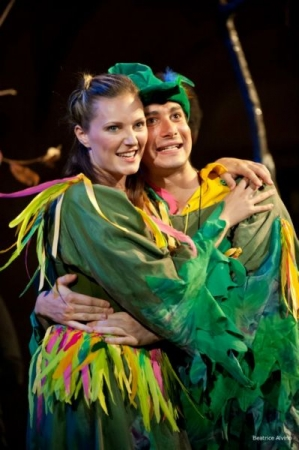 My colleague and I as Papageno and Papagena in Die Zauberflöte with Operafestival di Roma in Rome, Italy in 2012.
