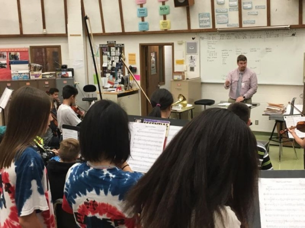 Conducting the Fairview Middle School String Orchestra - September 2017