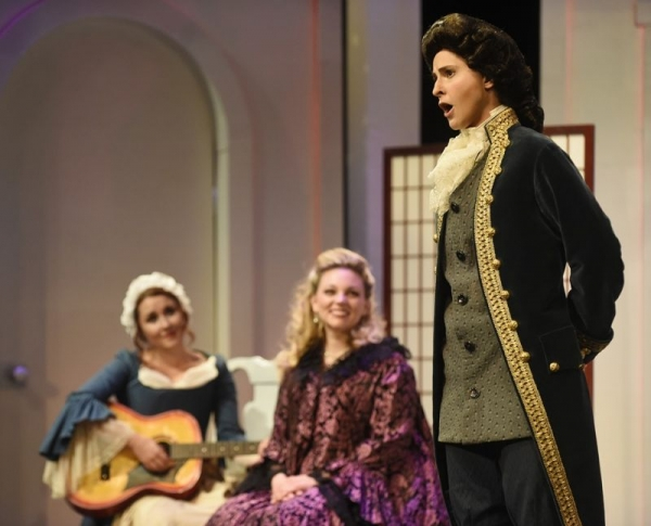 Performing the role of Cherubino in Mozart's The Marriage of Figaro, 2015