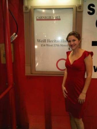 After successful recital at Carnegie Hall, 2011