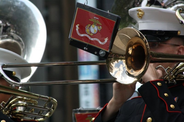 Performing with the Quantico Marine Corps Band!