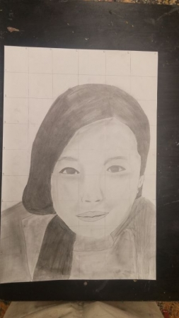 Age:13 Self Portrait, Medium: Pencil