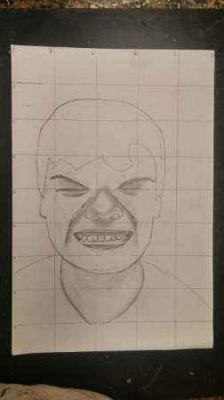 Age:12 Self Portrait, Medium: Pencil