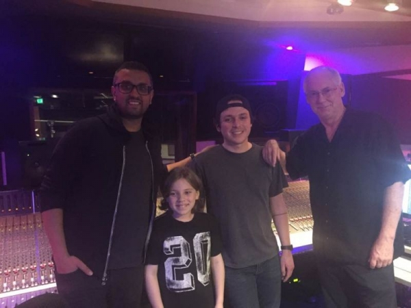 Producing young Michaels vocals at West Lake Studios in West Hollywood.