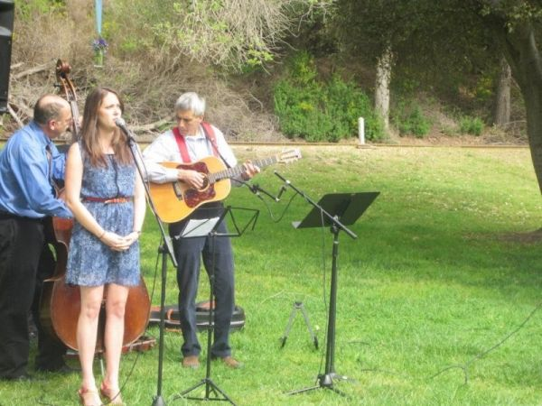 Performing at a wedding in Santa Cruz, CA