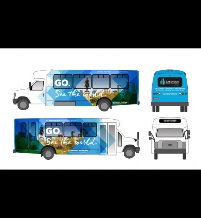 Bus mockup created in Adobe Illustrator.