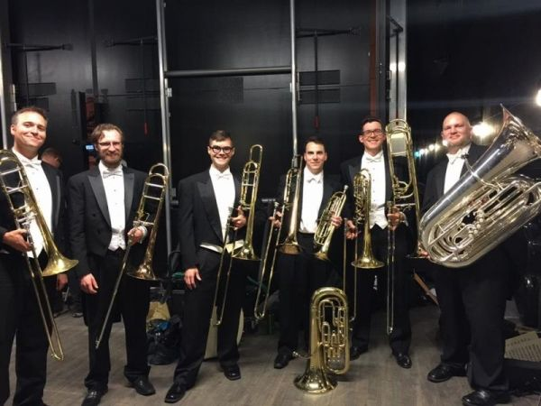Final Orchestra Iowa concert June 2016, I played euphonium, bass trumpet, and tenor trombone on a brass heavy concert.