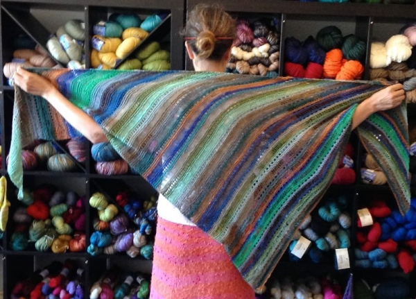 One of the first Shawls I Designed & Knit.