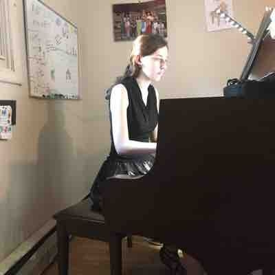 Hannah has a lesson before a formal school event