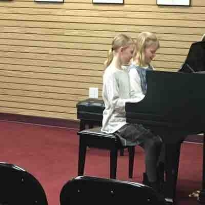 Twins performing a duet