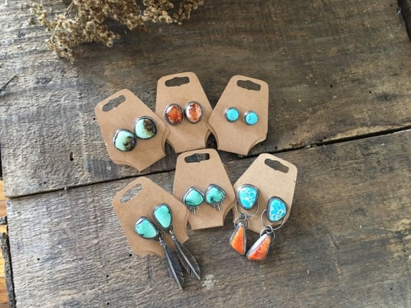 turquoise earring collection