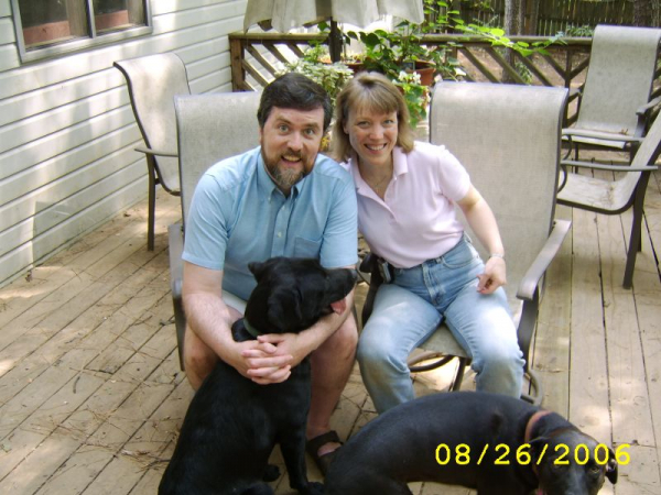 the family  Family. my wife karen and dogs sequoia and tahoe. Both dogs have passed on and my present dog is Denali.
