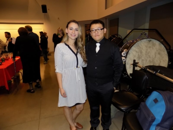My duet partner for Pasadena City College, Piano Ensemble performance.