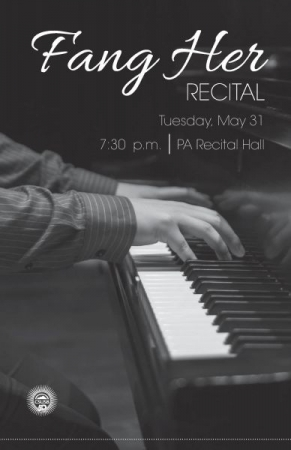 My Junior Recital Program back in Spring 2016.