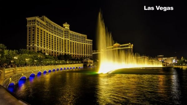 Las Vegas, Nevada, The Bellagio water fountain show