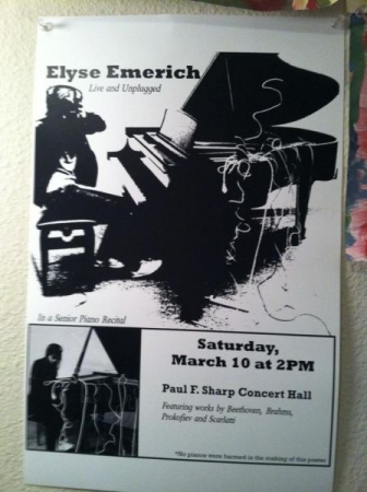 Recital poster from college