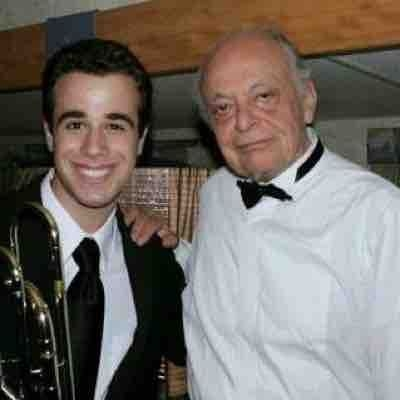 With the great Maestro Lorin Maazel! He was the former Music Director of the New York Philharmonic.