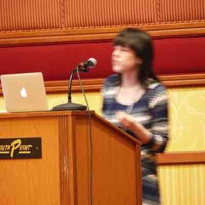 Speaking at a workshop on teaching/education at a conference