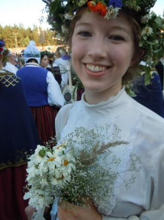 At the Latvian national song festival in 2013, on tour with the University of Washington choral department