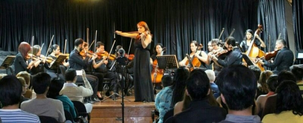 Performing with the Museum Municipal Chamber Orchestra- Guayaquil